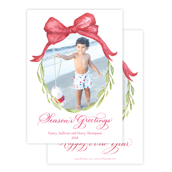 Christmas to Remember Red Vertical Christmas Card