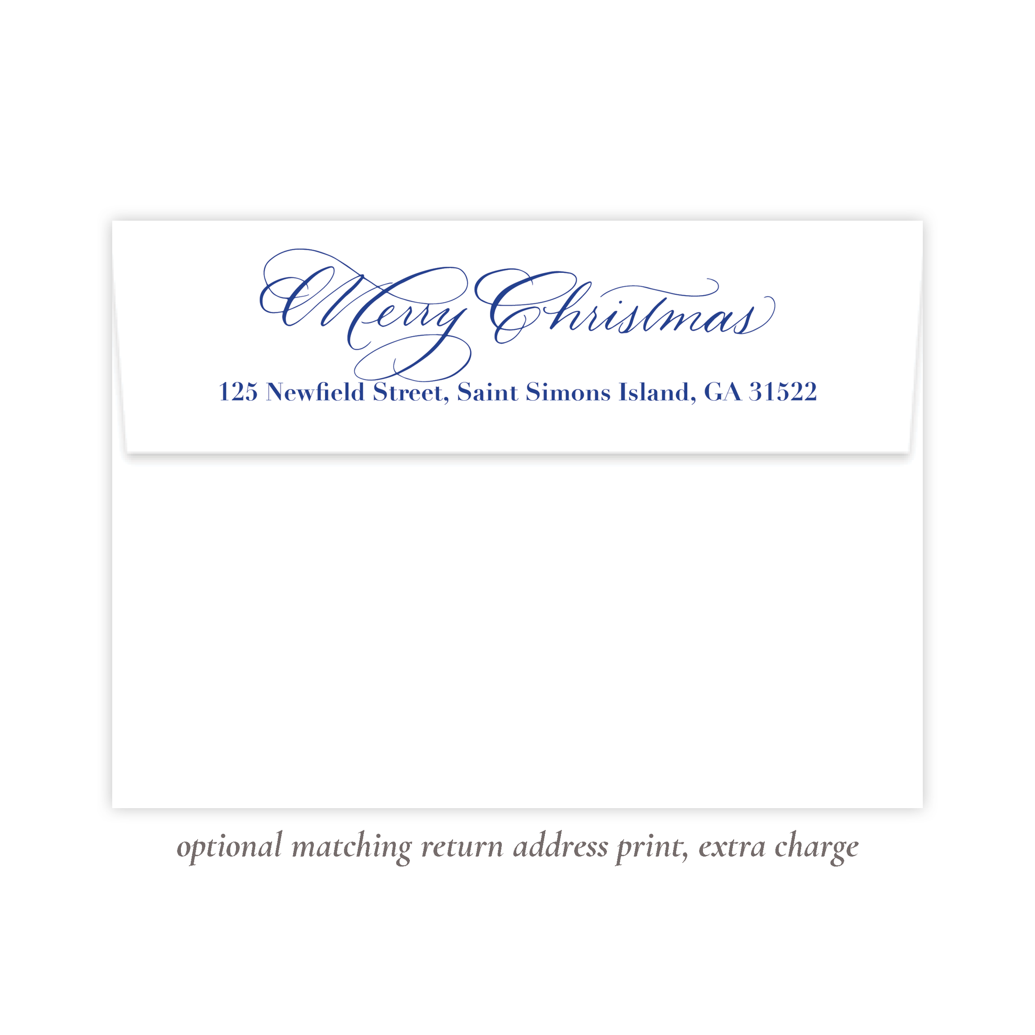 Christmas to Remember Blue Return Address Print