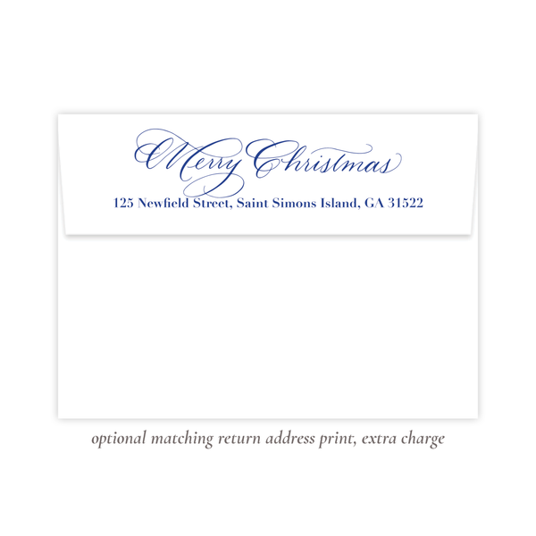 Christmas to Remember Blue Vertical Christmas Card