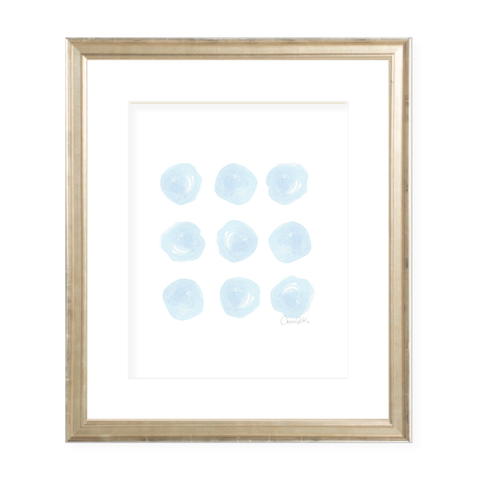Circle of Love in Blue Watercolor Print by Sugar B Designs