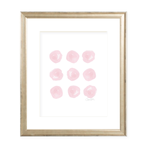Circle of Love Pink Watercolor Print by Sugar B Designs