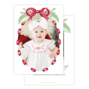 Collins Bow Red Christmas Card