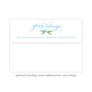 Conrad Court Blue Return Address Print