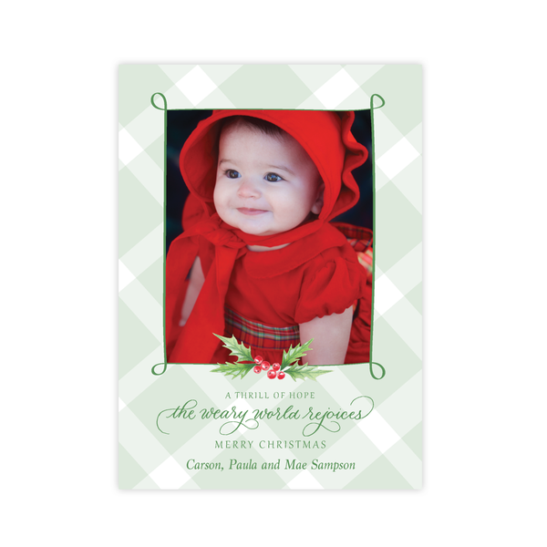 Conrad Court Green Christmas Card