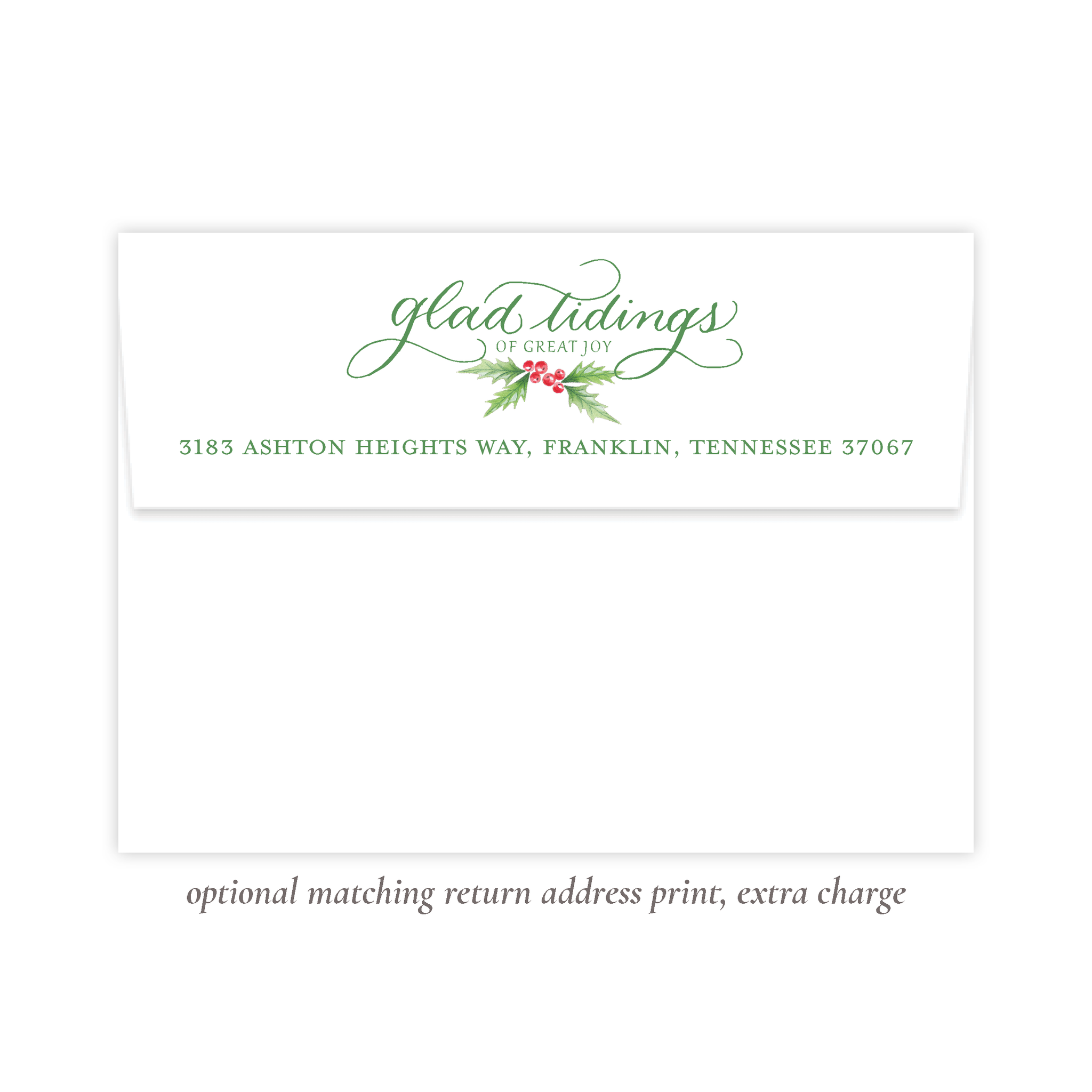 Conrad Court Green Return Address Print