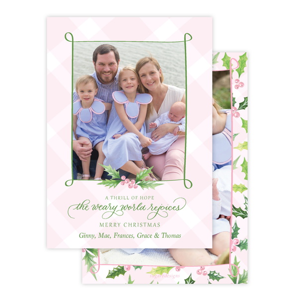 Conrad Court Pink Christmas Card