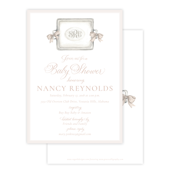 Crawford in Ivory Baby Shower Invitation