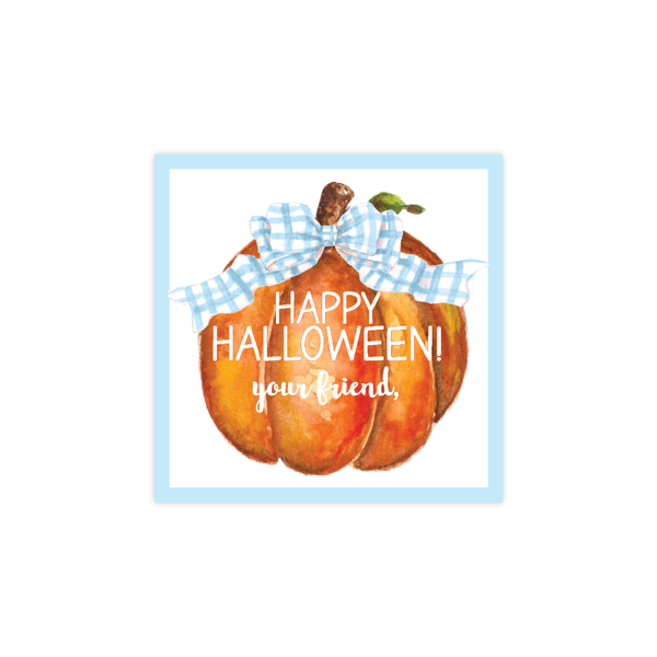 Cute Pumpkin Blue Gift Tags : DIGITAL DOWNLOAD PRINTABLE