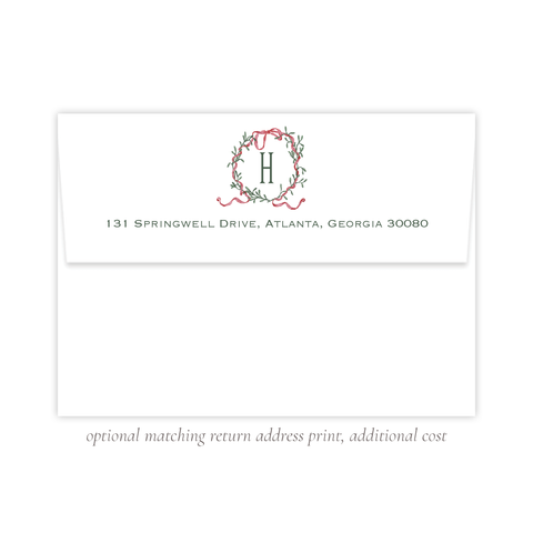 Densmore Wreath A7 Return Address Print