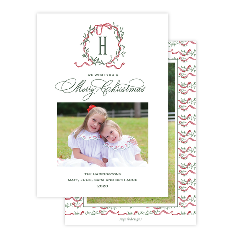 Densmore Wreath Christmas Card Portrait