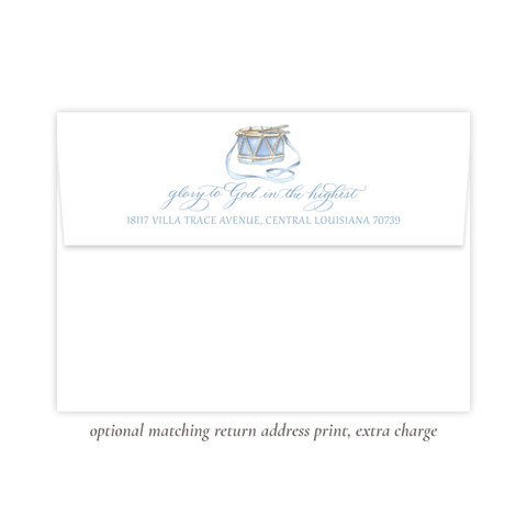 Your Drummer Boy Blue Return Address Print