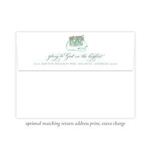 Your Drummer Boy Green Return Address Print
