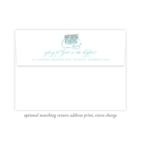 Your Drummer Boy Seafoam Return Address Print