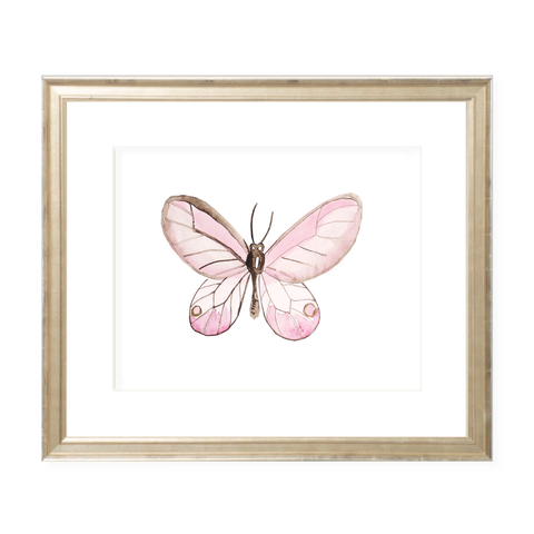 Eden Butterfly Landscape Watercolor Print