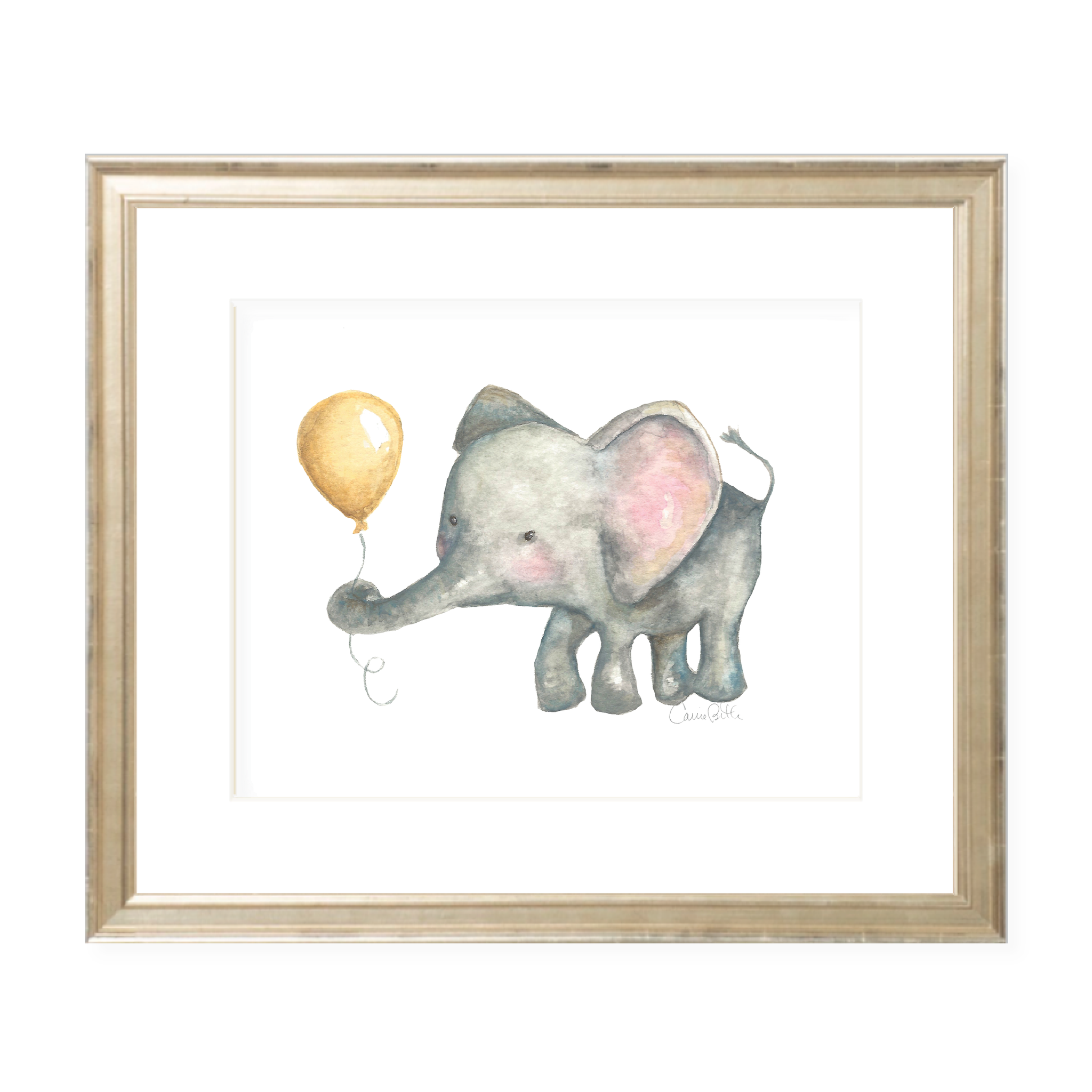 Elie and Balloon Watercolor Print