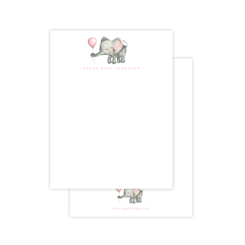 Elie and Balloon Pink Flat Stationery