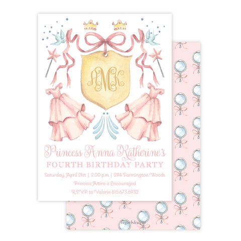 Enchanted Princess Birthday Invitation by Sugar B Designs