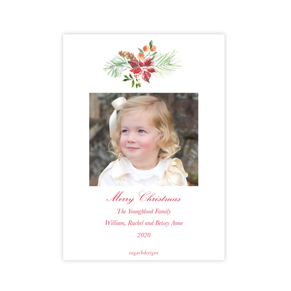 Festive Christmas Card Portrait