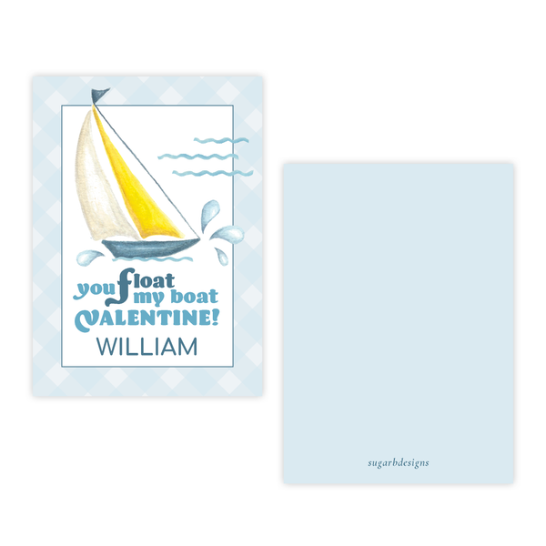 Float My Boat Valentine Card