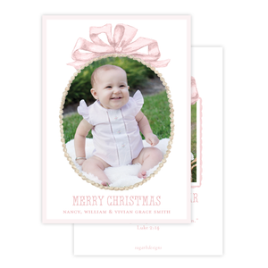 Florentine Wreath in Pink Christmas Card