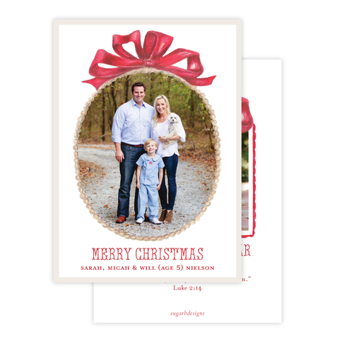 Florentine Wreath in Red Christmas Card