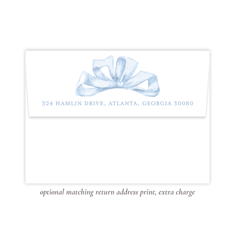 Florentine Blue Return Address Print