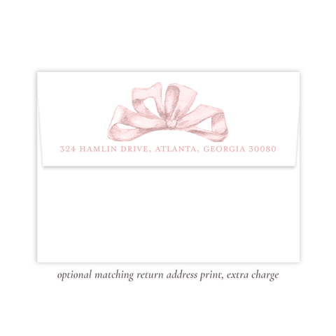 Florentine Pink Return Address Print