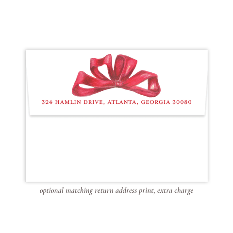 Florentine Red Return Address Print