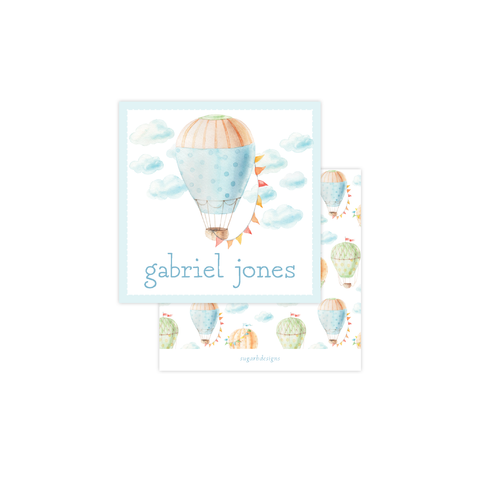 Fly High Hot Air Balloon Calling Card