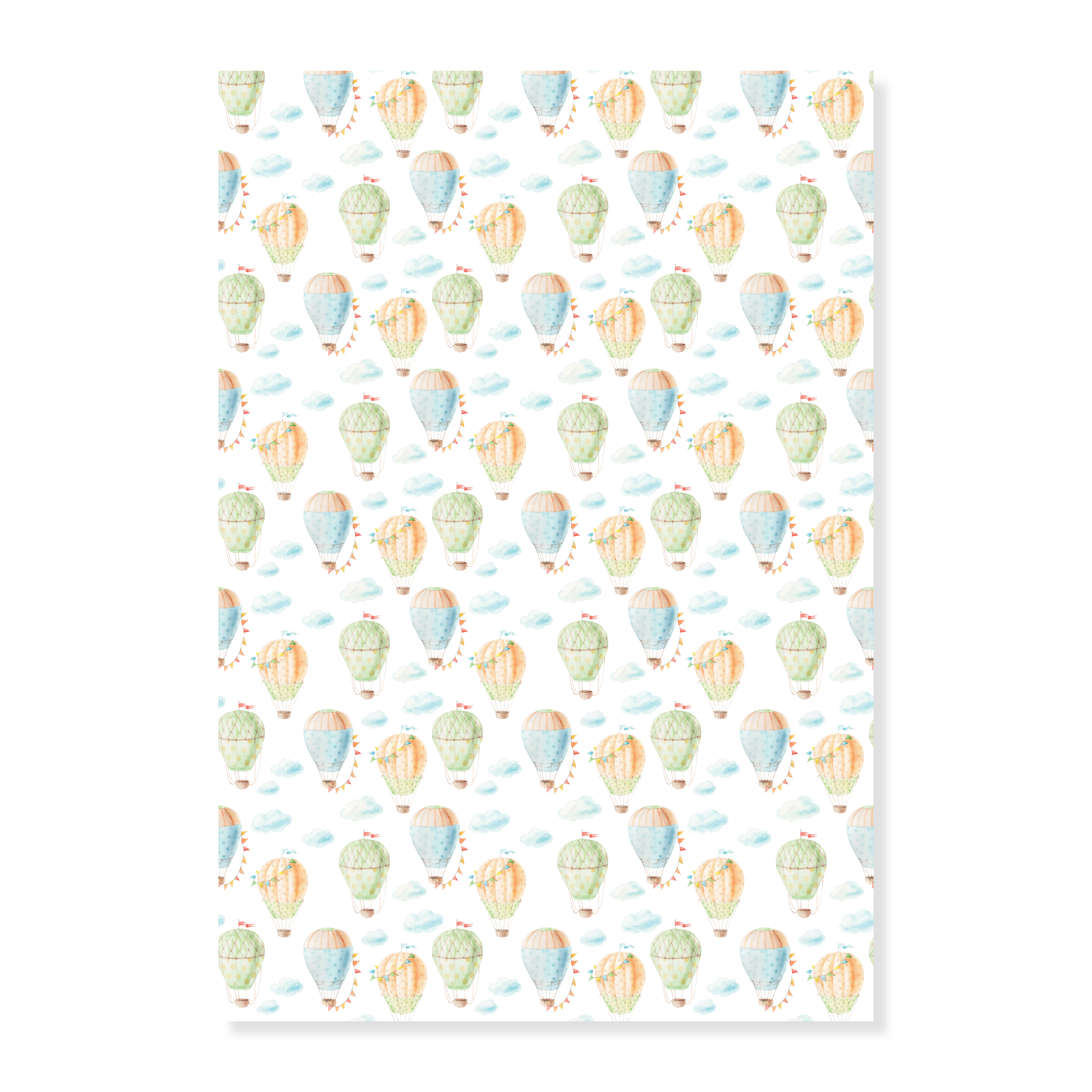 Fly High Hot Air Balloon Gift Wrap