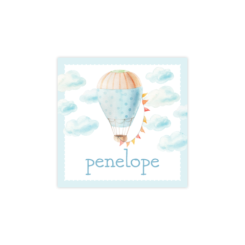 Fly High Hot Air Balloon Square Sticker