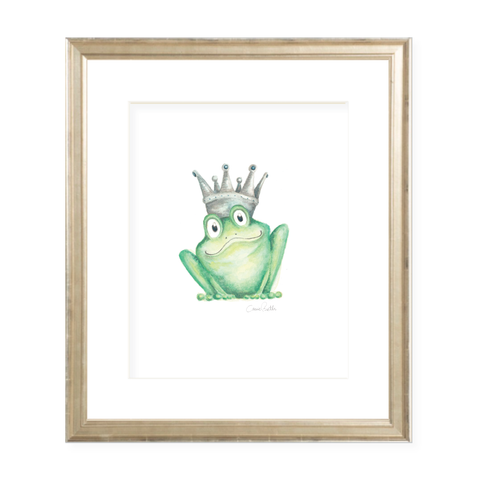 Frog Prince Watercolor Print