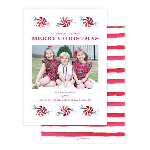 Peppermint Parade Christmas Card Portrait