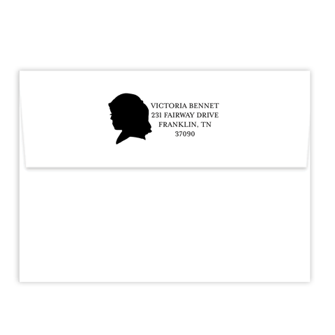 Girl Silhouette Self Inking Stamp