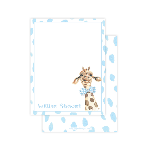 George the Giraffe Flat Stationery