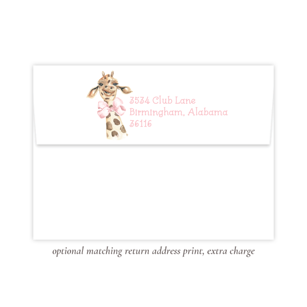 Georgette the Giraffe Birthday Invitation