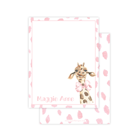 Georgette the Giraffe Flat Stationery