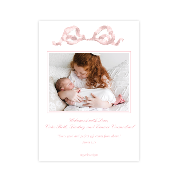 Georgia's Frame Pink Birth Announcement