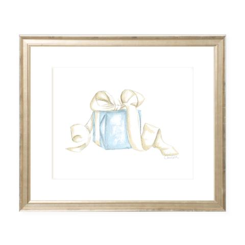 Given with Love Blue Watercolor Print