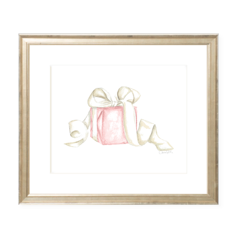 Given with Love Pink Watercolor Print