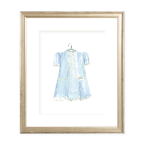 Grace Dress Blue Watercolor Print