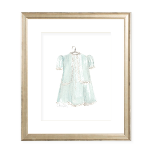 Grace Dress in Green Watercolor Print