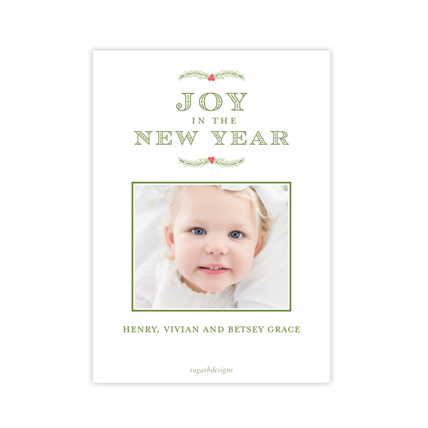 Greenville Estate Green Portrait Christmas Card