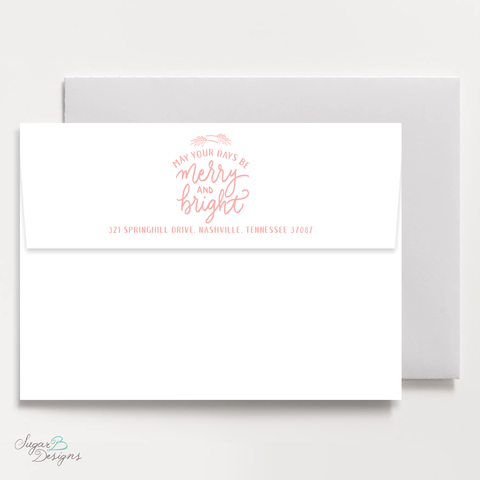 Very Gustin Pines Peach Return Address Print