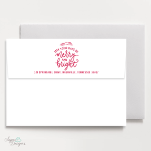 Very Gustin Pines Red Return Address Print