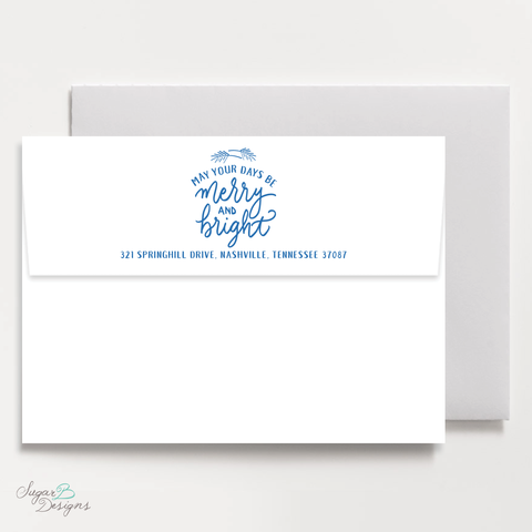 Very Gustin Pines Blue Return Address Print