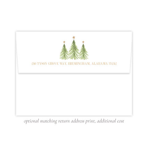 Hagan Christmas A7 Return Address Print