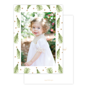 Hagan Tree Border Christmas Card Portrait