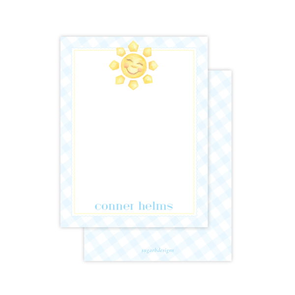 Sunshine Blue Flat Stationery
