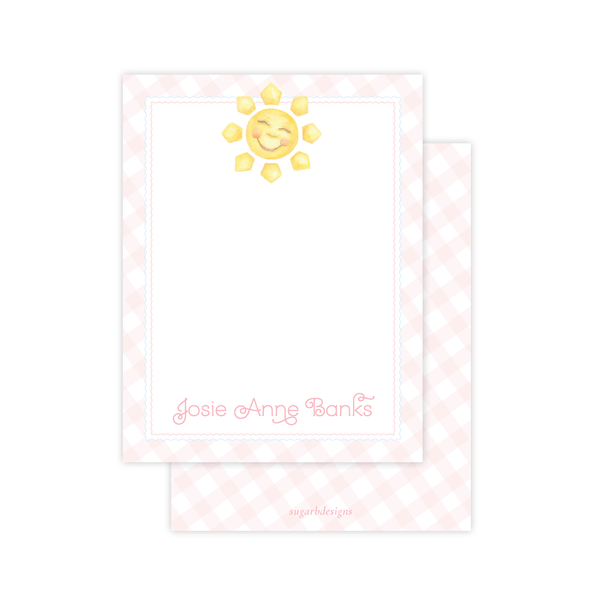 Sunshine Pink Flat Stationery